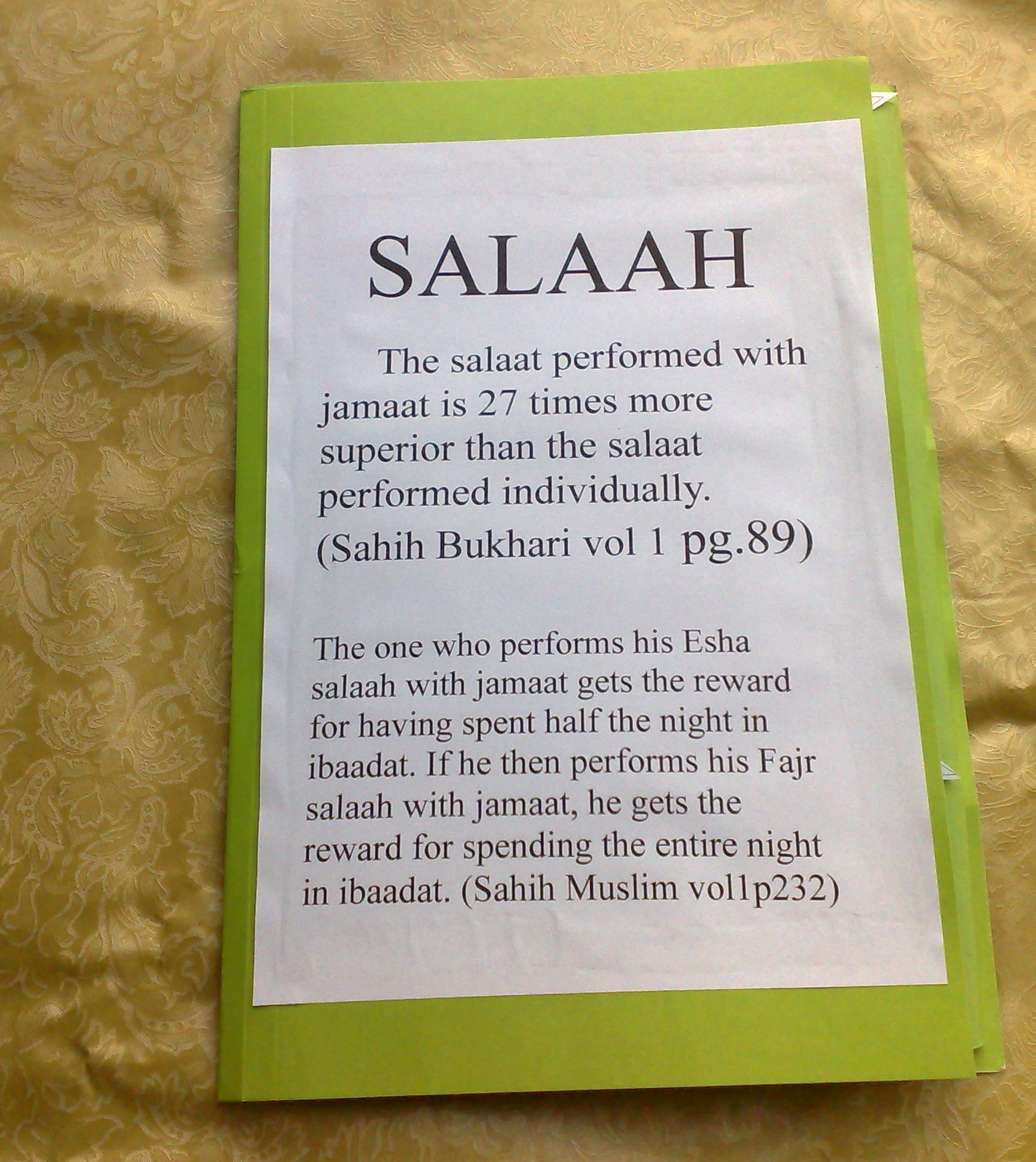 Salaah Lapbook   Always Learning Resources