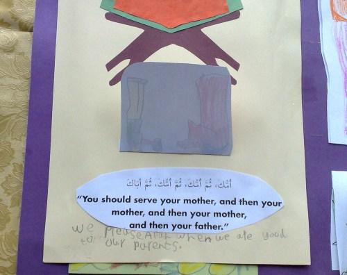 about behaviour with parents