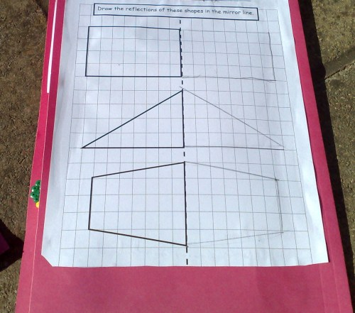 worksheet on backcover